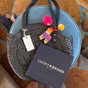 Lucky brand straw circle tote